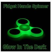 Fidget Hand Spinner GLOW IN THE DARK Toys Spiner Mainan Jari Putar NEW