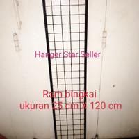 Ram Kotak Jaring Hook 25cmX120cm tempat gantungan aksesoris hp