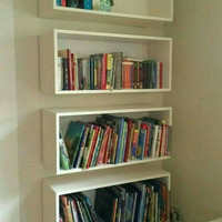 Rak melayang floating shelves.. Frame Rak buku
