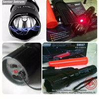 Alat kejut listrik bentuk senter dilengkapi laser stungun setrum kejut