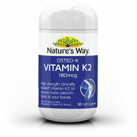 Natures Way Osteo K Vitamin K2 180mcg 30 soft caps
