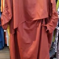 Atasan Blouse Wanita 90092- T layer serut merah bata size M