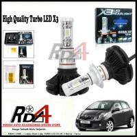 Lampu Head Lamp TURBO LED X3 H4 3 Warna Yaris