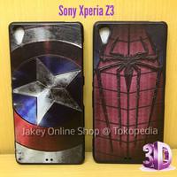 SILIKON SUPERHERO 3D Sony Xperia Z3 Soft case casing cover