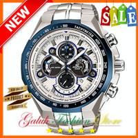 Jam tangan pria Casio edifice EF 554 / EF554 Blue ori BM + Box set