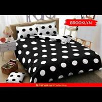 Seprai kintakun polkadot Brooklyn black white king size 180 x 200