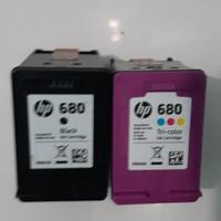 Tinta hp 680 blcak dan colour ciap pake harga per pis