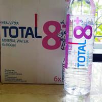 Total 8+ 1000ml isi 6 botol. Air alkali ph 8+