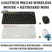 Keyboard + Mouse Wireless logitech MK240 nano wireless combo - Resmi