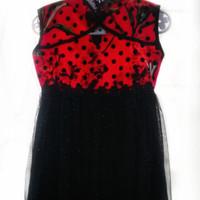 Dress anak cheongsam polka