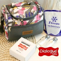 new COOLER BAG dialogue baby perlengkapan asi free botol asi tas ASI