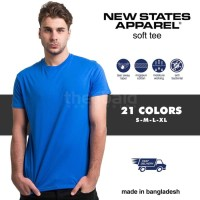 Kaos Polos New States Apparel Soft Tee 3600 COLOR, (SIZE S - XL)