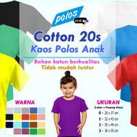 Kaos Polos Anak Cotton 20s (Ukuran 0 ~ 3)