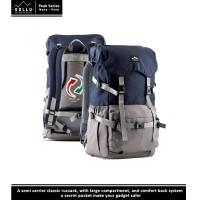 Tas Ransel Backpack Daypack Rucksack Laptop Gaya- Sollu Peak Grey Navy