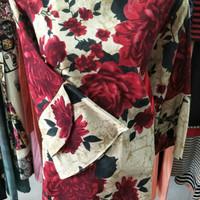 Blouse wanita. Flower Print Ruffle. Ukuran PLUS. THE NEW!