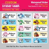 Sticker Label Nama Waterproof - Robocar Poli - stiker vynil