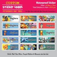 Sticker Label Nama Waterproof - Slugterra - stiker vynil