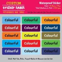 Sticker Label Nama Waterproof - COLOURFUL - sticker vynil
