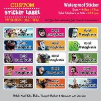 Sticker Label Nama Waterproof - Hotel Transylvania