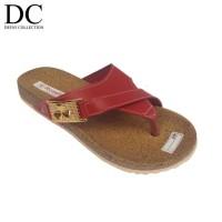 New !! Sandal Wanita Murah | Sendal Santai Model Carvil Jepit Merah -