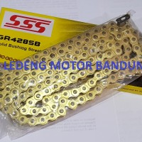 SSS Rantai 428H-130L Chain Gold Kuning Racing Motor Sport Universal