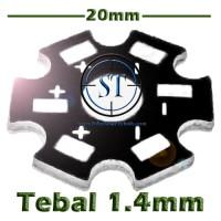 Heat Sink Aluminium Plat Pendingin LED 1W - 3W Star PCB HeatSink