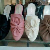 Sepatu Sandal Wanita Flat Pita Ribbon