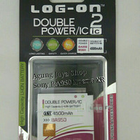 Baterai/Batre Sony BA950/Xperia ZR Battery Log On Double Power/IC