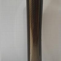 Stiker Skotlet karbon carbon keplar hitam emas black gold halus 50cm