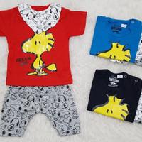 Baju Setelan Anak Bayi Stelan Harian Slabber Baju Anak Snoopy