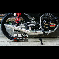 Knalpot Racing Peak Model Samping Dot Chrome BUKAN Kolong Rx King