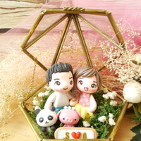 Kotak cincin wedding ring box terrarium terarium custom