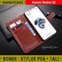 XIAOMI REDMI S2 - Flip Cover Wallet Leather Case Casing Dompet kulit