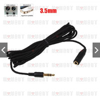 3 Meter Kabel Audio Extension Male to Female Stereo Jack 3.5mm - Murah