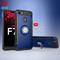 Calandiva Ring Carbon Case for Oppo F7 6.23 Inch