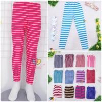 Legging Salur uk 8-10 th / Leging Anak Perempuan Murah Celana Panjang