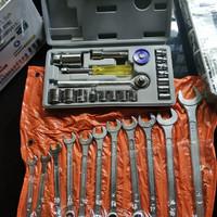 Tool Kit Ring Pas Set dan Sok Set 21 Pcs - Kunci Bengkel Murah