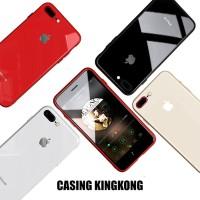 CASING TEMPERED GLASS iPhone, tahan BANTING, GORESAN, BENTURAN & API! - Hitam