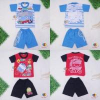 Setelan Anak Tayo uk 3-4 Tahun / Kaos Karakter Celana Pendek