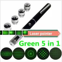 Green Laser Pointer 5 Mata Lampu Senter Laser Hijau LED