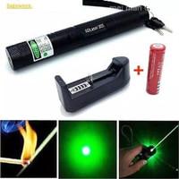 Green Laser Pointer 303 1 Mata Lampu Senter LED Hijau Recharge 10 km