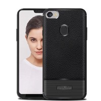 LEATHER ARMOR case Oppo F7 Plus Pro softcase casing hp cover tpu kulit