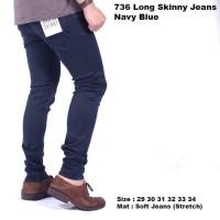 celana panjang jeans pria navy / celana pria jeans panjang navy blue