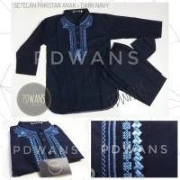 Baju Koko Anak Model Setelan PAKISTAN - DARK NAVY by PDWANS