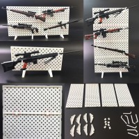 For 16 1 6 Scale Modular Weapons Display Stand Wall Gun Rack Set 12