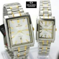 Jam Tangan Hegner HW 1598 Silver Combi Gold Couple Ori
