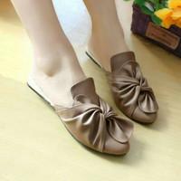 Sepatu Sendal Wanita Flat Pita Ribbon