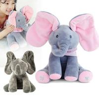 Boneka Gajah Peek A Boo Cilukba Boneka Elephant Plush Boneka Musik