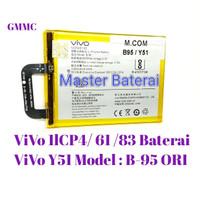 Baterai Vivo Y51 B95 Vivo 1lCP4/61/83 Batrai ViVo Model B-95 Y-51 ORI