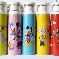 G61 Termos Disney Dora The Explorer / Botol Minum 500ml Tutup Gelas